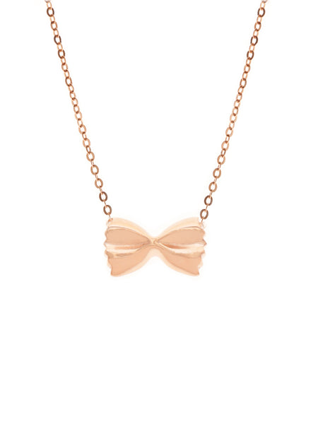 FARFALLE Necklace 14k Rose Gold Dip
