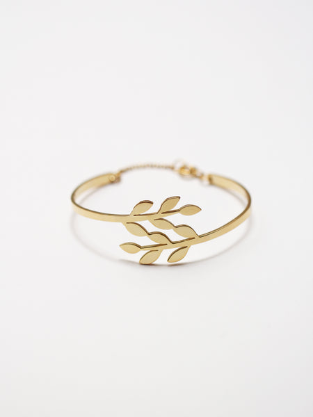 FOLIAGE Cuff 925 Sterling Silver & Gold Dip