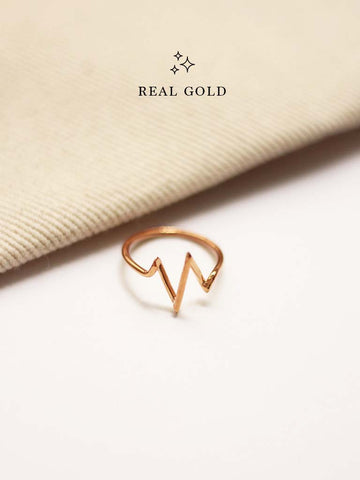 [REAL GOLD] Heartbeat Ring 18k Rose Gold