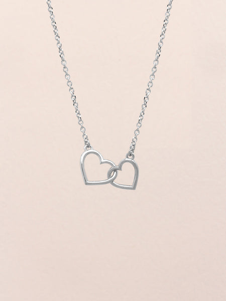 HEARTS TOGETHER Necklace 925 Sterling Silver