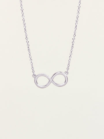 INFINITY Necklace 925 Sterling Silver