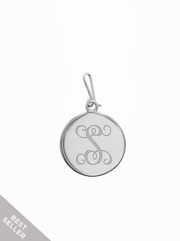 INITIAL Hook Charm 925 Sterling Silver