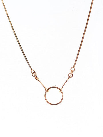 KARMA Necklace 14k Rose Gold Dip