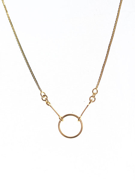 KARMA Necklace 16.8k Yellow Gold Dip