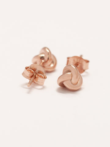 TRINITY Ear Studs 14k Rose Gold Dip