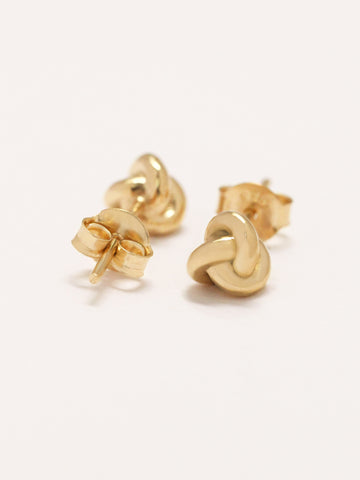 TRINITY Ear Studs 16.8k Yellow Gold Dip