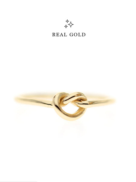 [REAL GOLD] Knotted Heart Ring 16.8k Yellow Gold