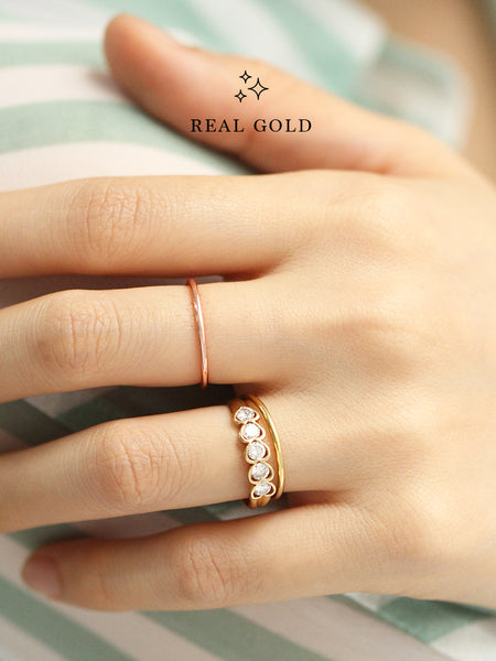 [REAL GOLD] CLASSIC STACKER Ring 18k Rose Gold