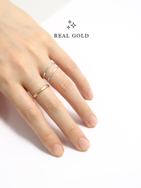 [REAL GOLD] CLASSIC STACKER Ring 18k White Gold