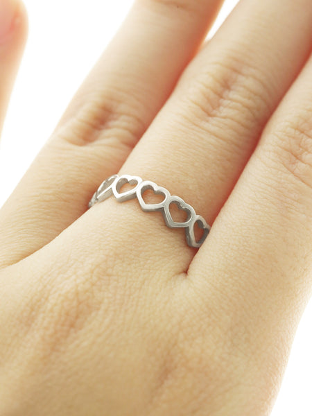 CUTOUT HEART Ring 925 Sterling Silver