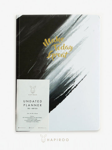 MAKE TODAY GREAT Undated Planner