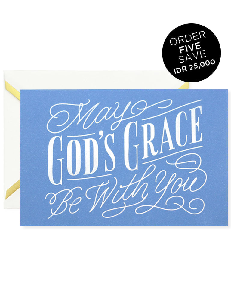 MAY GOD'S GRACE BE WITH YOU Greeting Card