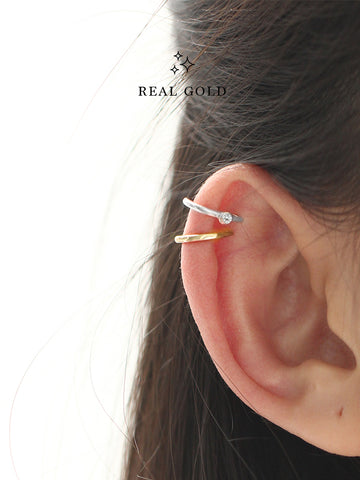 [REAL GOLD] ALANA Moonlight Ear Cuff 18k White Gold