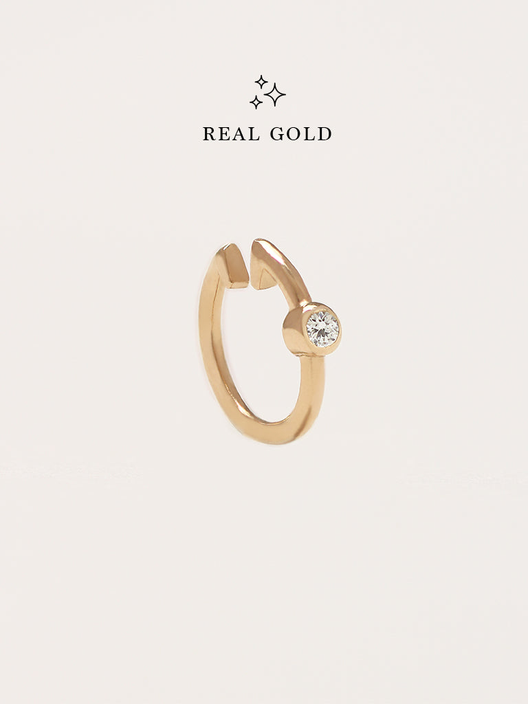 [REAL GOLD] ALANA Moonlight Ear Cuff 16.8k Yellow Gold