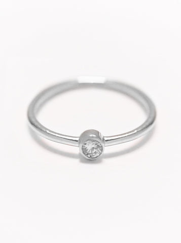 MOONLIGHT SOLO Zirconia Ring 925 Sterling Silver