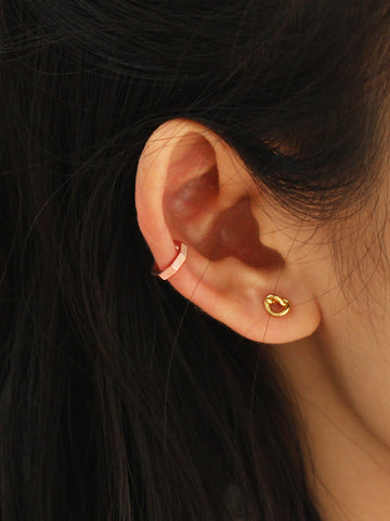 [REAL GOLD] NYLA Hexagon Ear Cuff 18k Rose Gold