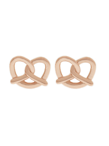 PRETZEL Ear Studs 14k Rose Gold Dip