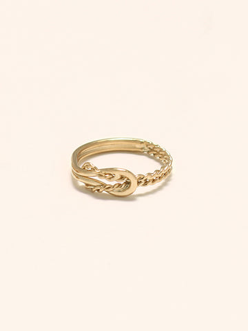 KNOTTED ODYSSEY Ring 16.8k Yellow Gold Dip