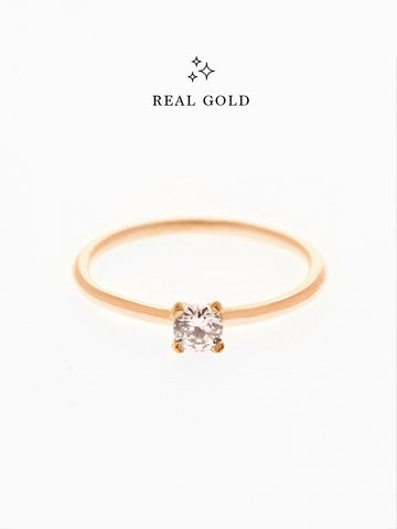 [REAL GOLD] SERAPHINA Ring (0.3cm) 18k Rose Gold