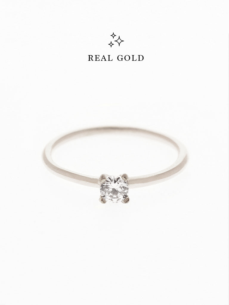 [REAL GOLD] SERAPHINA Ring (0.3cm) 18k White Gold