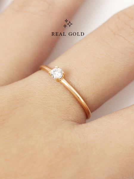 [REAL GOLD] SERAPHINA Ring (0.3cm) 16.8k Yellow Gold