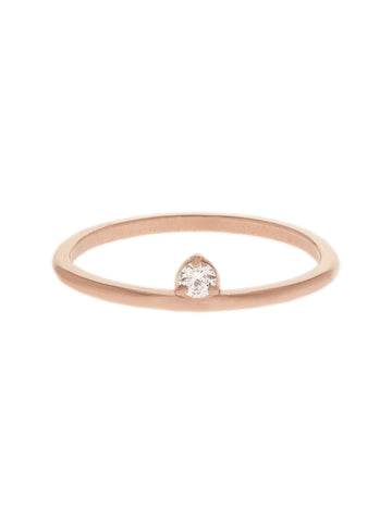 DEWDROP Ring 14k Rose Gold Dip