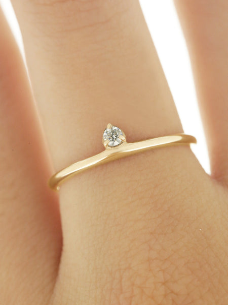 DEWDROP Ring 16.8k Yellow Gold Dip