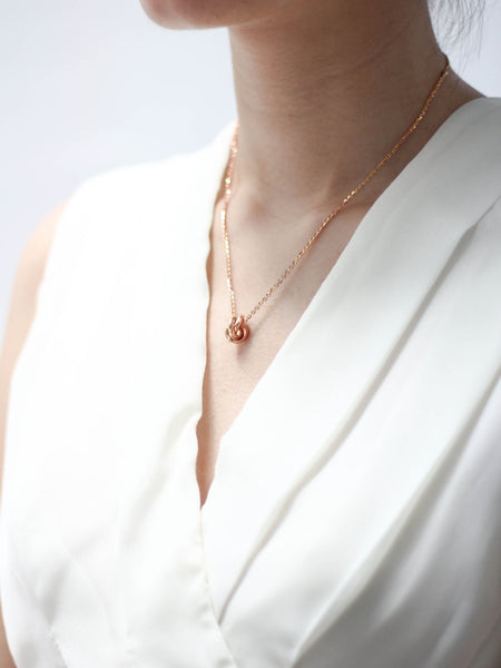 TRINITY Necklace 14k Rose Gold Dip
