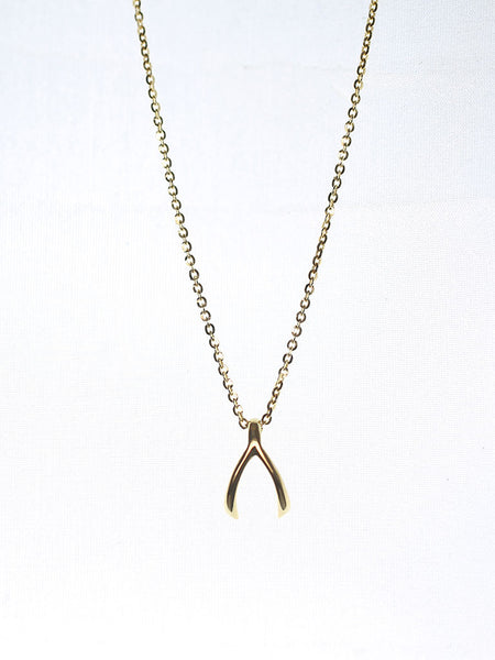 WISHBONE Necklace 925 Sterling Silver