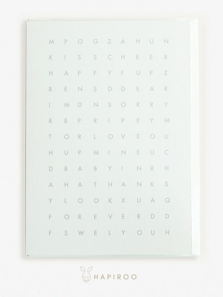 WORD PUZZLE Greeting Card