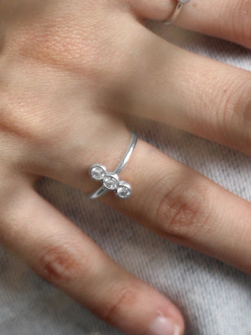 [PRE-ORDER] MOONLIGHT TRIO Zirconia Ring 925 Sterling Silver
