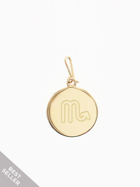 ZODIAC Hook Charm 16.8k Yellow Gold Dip