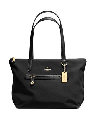 Coach Top Zip Shoulder Tote In Nylon