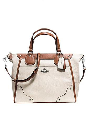 Coach Mickie In Spectator Colorblock Leather Satchel