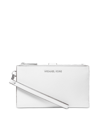 Michael Michael Kors Adele Double Zip Pebble Leather Phone Wristlet