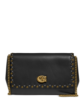 Coach Alexa Scalloped Leather Crossbody Bag