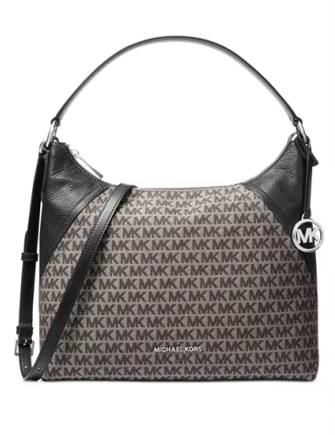 Michael Michael Kors Aria Signature Leather Shoulder Bag