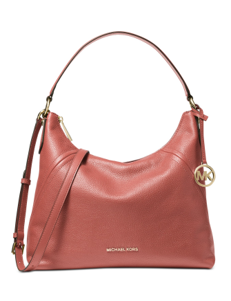 Michael Michael Kors Aria Pebble Leather Shoulder Bag