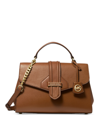 Michael Michael Kors Bleecker Leather Top Handle Satchel