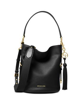 Michael Michael Kors Brooke Medium Pebble Leather Bucket Shoulder Bag