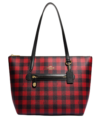Coach Buffalo Plaid Print Taylor Tote