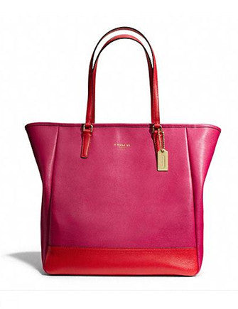 Coach Colorblock Saffiano North South City Tote