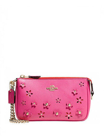 Coach Floral Applique Large Wristlet