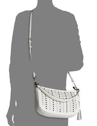 Coach All Over Studs Chelsea Crossbody in Pebble Leather
