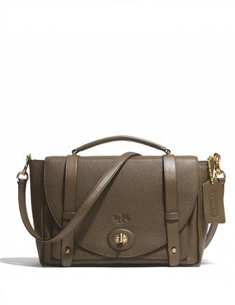 Coach Bleecker Brooklyn Satchel in Pebble Leather