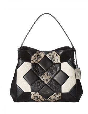 Coach Edie 31 Canyon Quilt Exotic Leather Shoulder Bag
