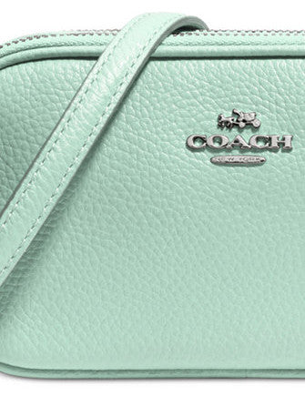 Coach Crossbody Zip Pouch in Polished Pebble Leather