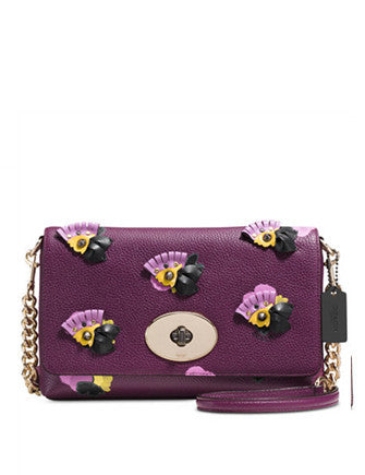 Coach Crosstown Crossbody in Floral Applique Leather