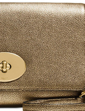 Coach Crosstown Crossbody In Metallic Pebble Leather