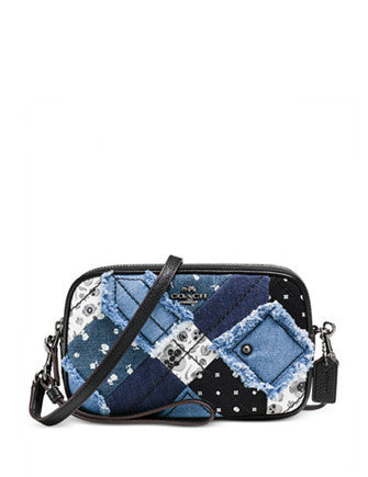 Coach Crossbody Clutch in Canyon Quilt Denim